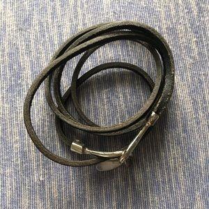 Cara NY Leather Hook Wrap Bracelet